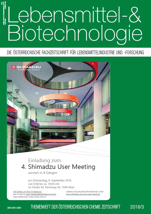 Lebensmittel- & Biotechnologie 03 2016
