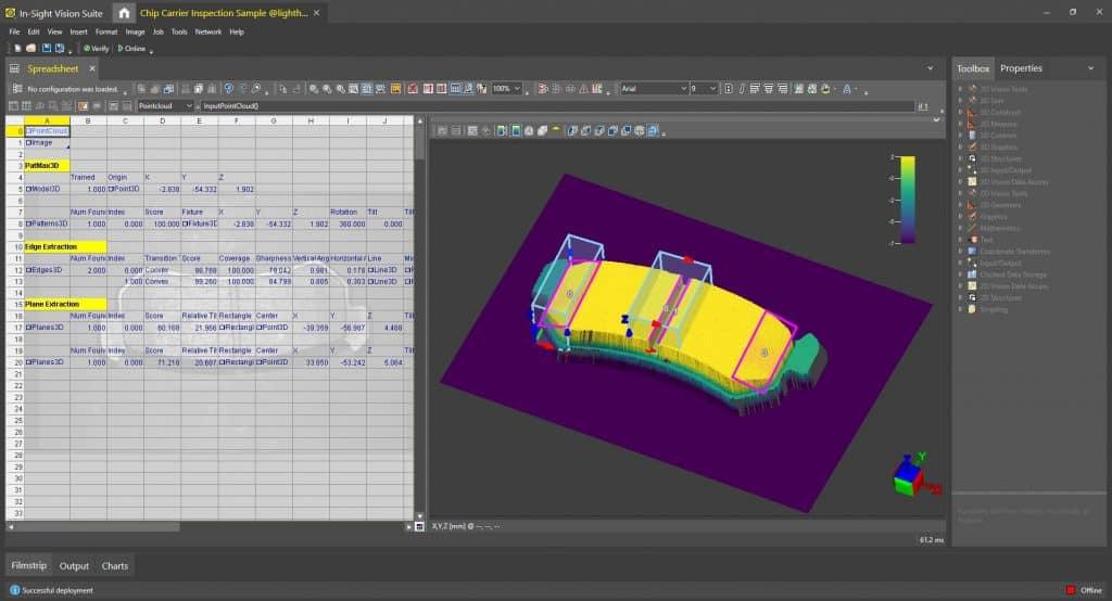 3D-Vision System: Intuitive Anwendungs-Einrichtung und -Ausführung auf echten 3D-Punktwolkenbildern | Foto: Cognex