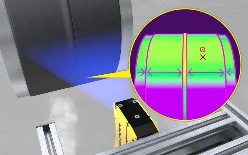 3D-Vision: Bei der Schweißnahtprüfung an Gummischläuchen erkennt das 3D-L4000 selbst kleinste Mängel und kann präzise Messungen vornehmen. | Grafik: Cognex