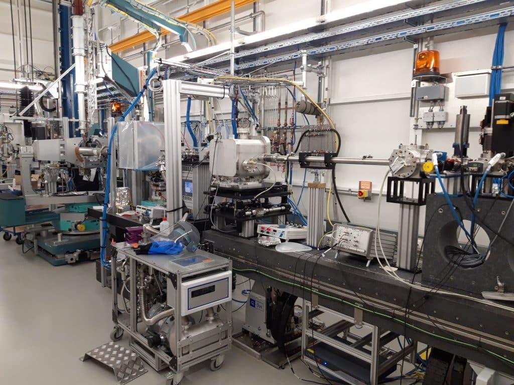 DESYs Röntgenlichtquelle PETRA III, an der die Eiweiß Experimente stattgefunden haben. | Foto: Universität Tübingen, Anastasia Ragulskaya