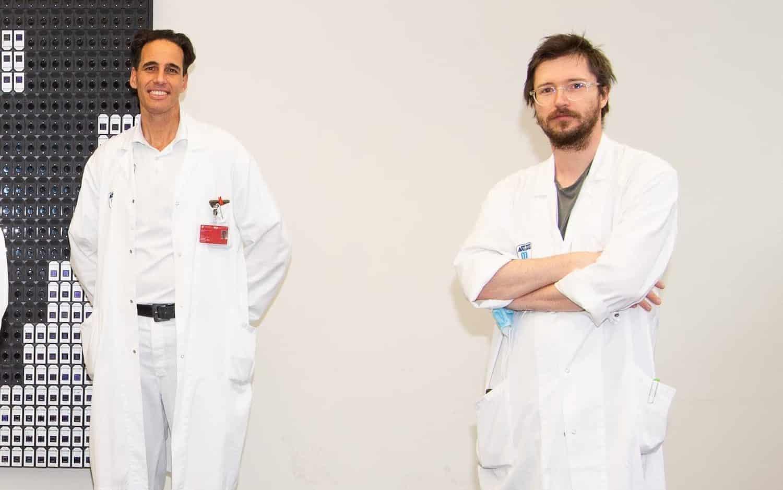 Manfred Hecking (links) und Roman Reindl-Schwaighofer erforschen Zusammenhang von ACE2 und Covid19 Infektionen | Foto: Luiza Puiu/FWF