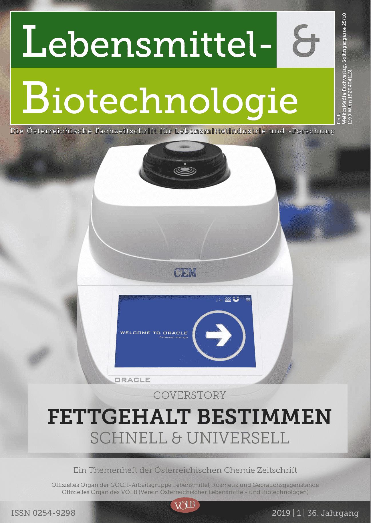 Lebensmittel-&Biotechnologie, 2019, 01