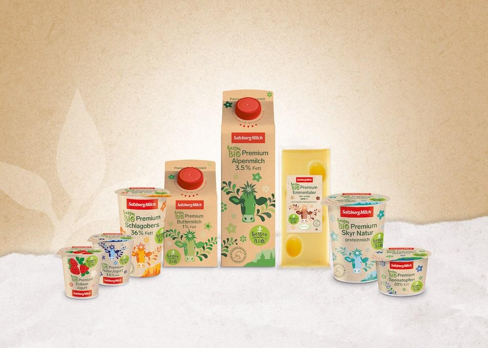SalzburgMilch Bio Premium Produkte   Foto: SalzburgMilch