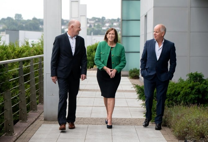 Dave Murphy, CEO; Rosita Fennell, CFO; Brendan Jennings, Vorsitzender | Foto: PM Group