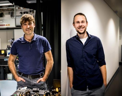 Professor Johann Danzl und Professor Florian Schur visualisieren das Innenleben von Zellen | Foto: IST Austria