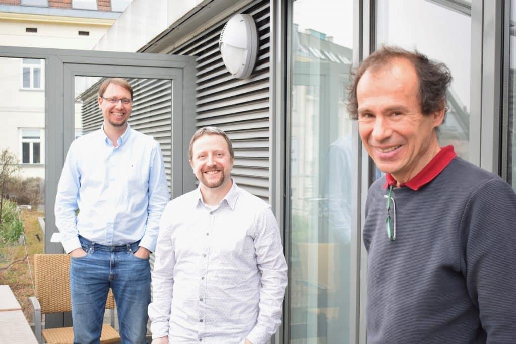 Crazy 8 Initiative Award für Forschung von Dr. Martin Distel, Dr. Florian Halbritter und Univ.-Prof. Dr. Heinrich Kovar   Foto: St. Anna Kinderkrebsforschung