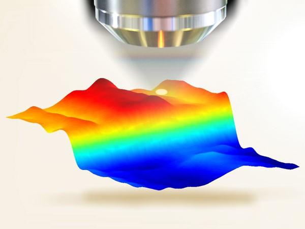 Mikroskopische Leitfähigkeitsuntersuchung an der Kante einer leitfähigen Beschichtung | Foto: Fraunhofer IWS