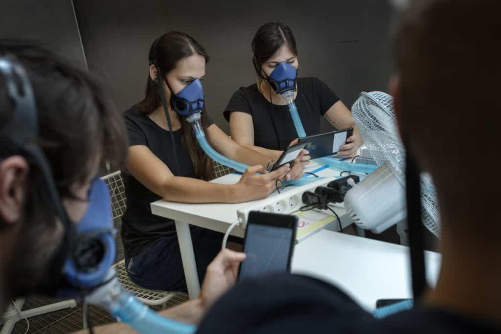 Messung menschlicher Emissionen in einer speziell isolierten Kammer an der Technischen Universität von Dänemark | Foto: Mikal Schlosser